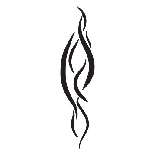 Wavy tribal pinstripes Transparent PNG
