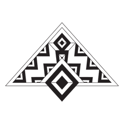 Stammes-Nadelstreifen Boho