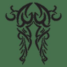 Tatuaje tribal del movimiento de las rayas de los cam