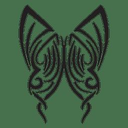 Curso de riscas de borboleta tribal