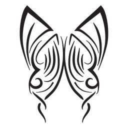 Tribal butterfly pinstripes stroke
