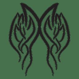 Resumen de trazo de telas a rayas de fuego tribal
