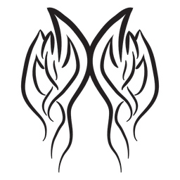 Tribal fogo pinstripes traço resumo