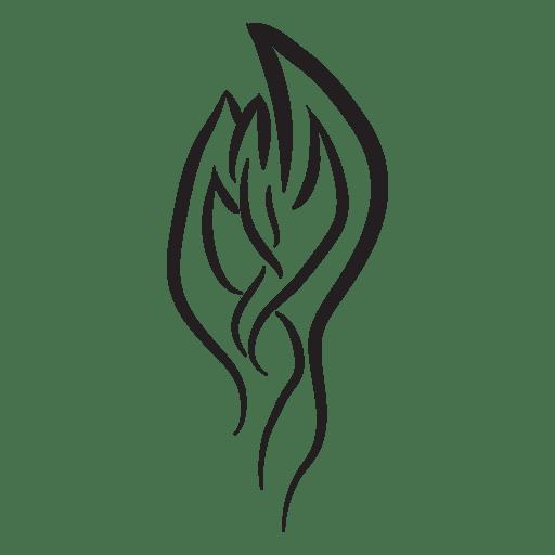 Tribal tattoo pinstripes Transparent PNG