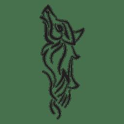 Tribal wolf pinstripe