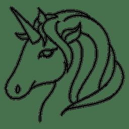 Ilustração de traço de fantasia animal unicórnio