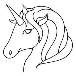 Unicorn animal fantasy stroke illustration