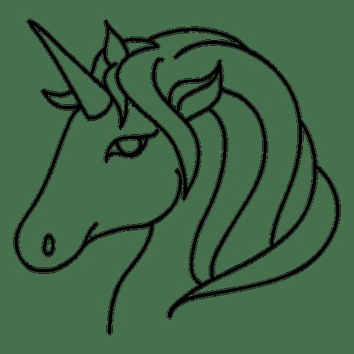 Ilustración de trazo de fantasía animal unicornio Transparent PNG