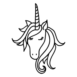 Hand drawn unicorn animal fantasy