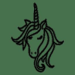 Handgezeichnete Einhorn Tierphantasie