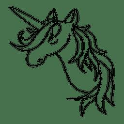 Dargestellte Einhorn-Tierphantasie