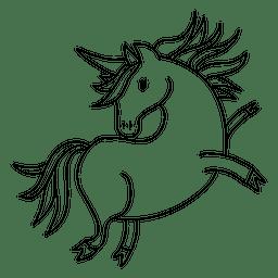 Niedliche Einhorn-Tierphantasie