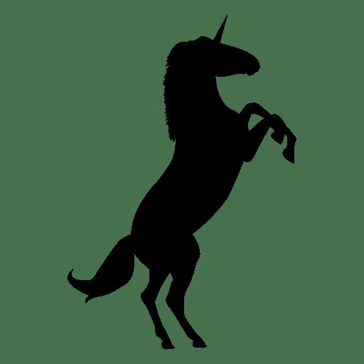 Unicornio fantasía silueta animal Transparent PNG