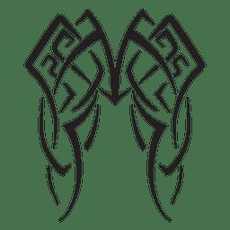 Wings tribal pinstripes