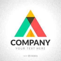 fabricante de logotipo de triángulo de abstracción
