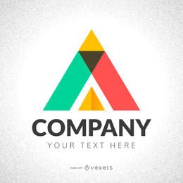 Triángulo abstracto logo maker