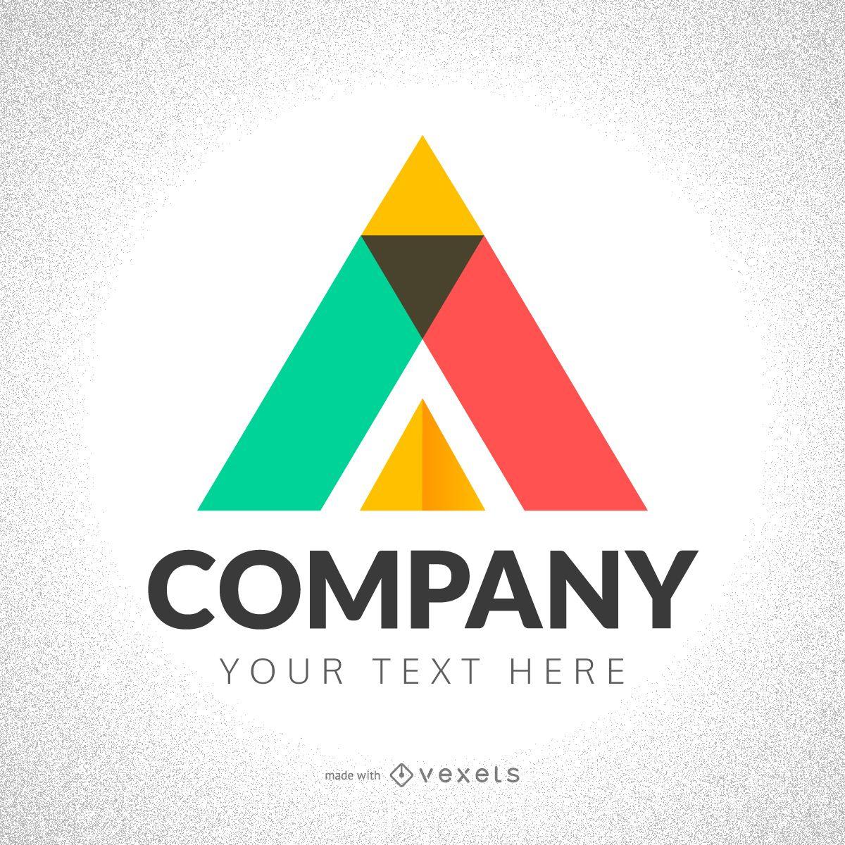 Creador de logotipos de triángulos abstractos