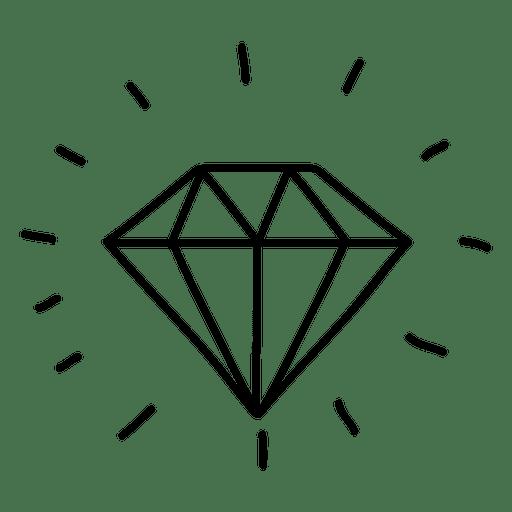 diamond gem doodle transparent png amp svg vector