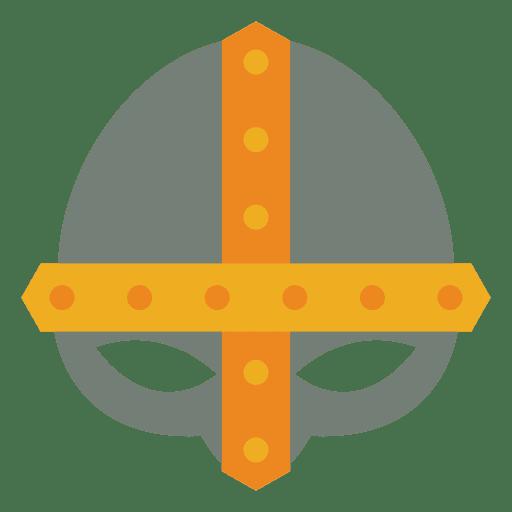 Casco plano guerra vikingo Transparent PNG