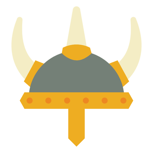 Casco amarillo guerra vikingo Transparent PNG