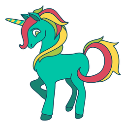 Fantasía de unicornio coloreado