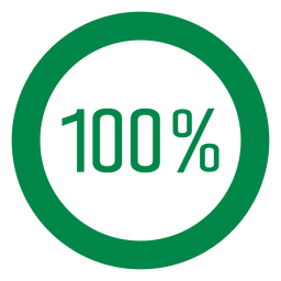 100 percent circle graph