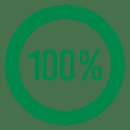 Gráfico circular del 100 por ciento