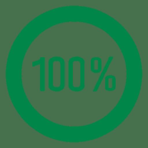 100 percent circle graph Transparent PNG