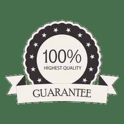 100 por ciento de garantía de sello retro