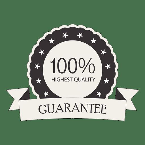 100 Prozent Garantie Retro-Siegel Transparent PNG