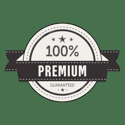 100 percent premium badge label