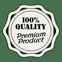 Etiqueta de calidad 100% premium