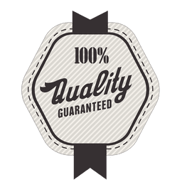100 percent quality guaranted seal
