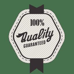Selo de garantia de 100% de qualidade