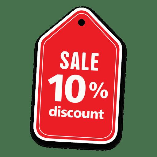 10% descuento etiqueta de venta