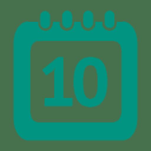 Icono de calendario del décimo día