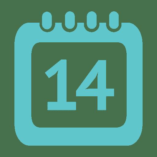 Icono de calendario de 14 días