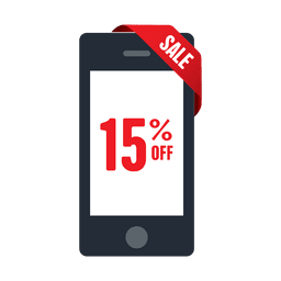 15 percent phone sale tag