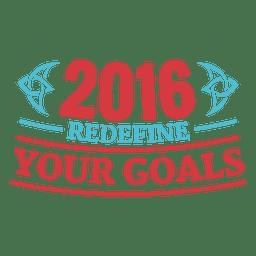 Insignia de año nuevo motivacional 2016
