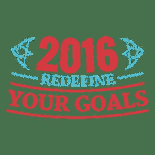 Insignia de año nuevo motivacional 2016 Transparent PNG