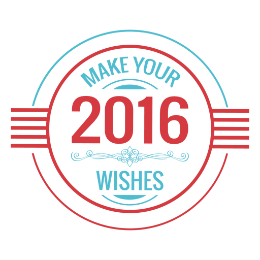 2016 new year wishes badge Transparent PNG