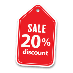 20 percent discount sale tag