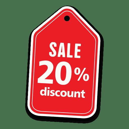 20 percent discount sale tag
