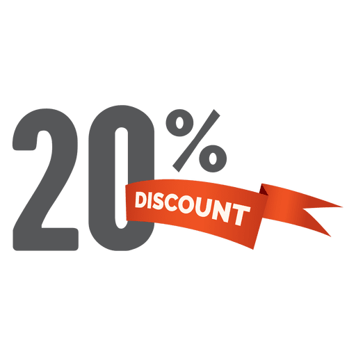 20 percent discount tag Transparent PNG