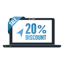20 percent laptop sale tag