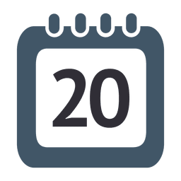 20th day calendar icon