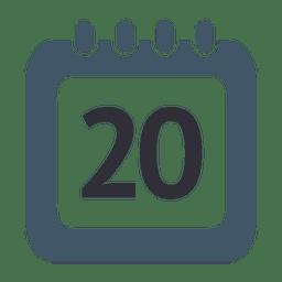 Ícone de calendário do dia 20