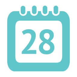 28th day calendar icon