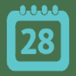Ícone de calendário do dia 28