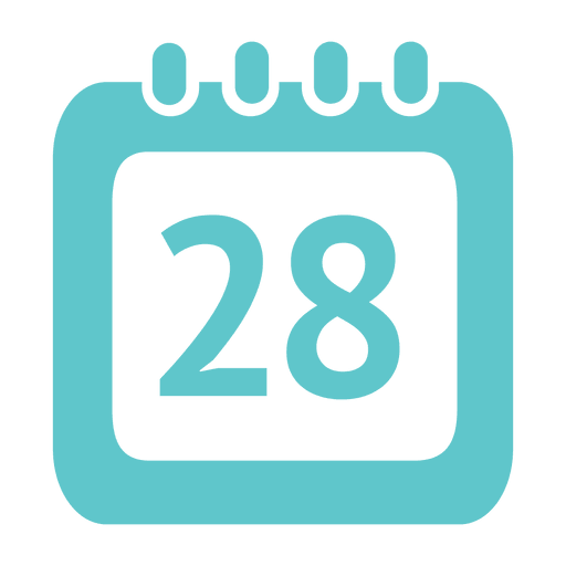 28th day calendar icon - Transparent PNG & SVG vector